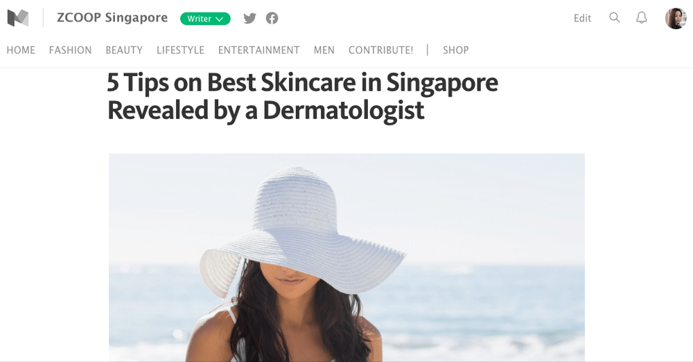 ZCOOP Singapore - 5 Tips on Best Skincare in Singapore Revealed by a Dermatologist
