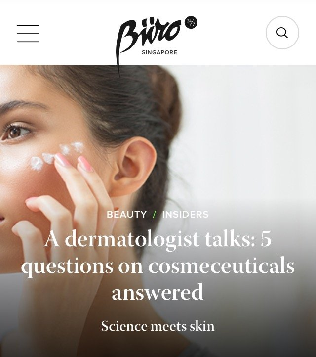 Buro 24/7 - 5 questions on cosmeceuticals answered by a dermatologist