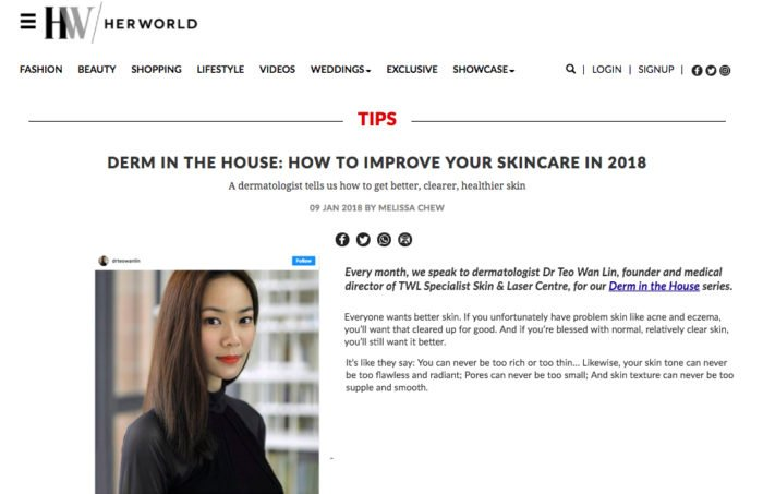 HerWord - How to improve your skincare according to a Dermatologist Singapore