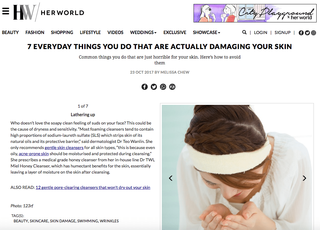 HerWorld - Everyday Things That Are Damaging to Your Skin Dermatologist