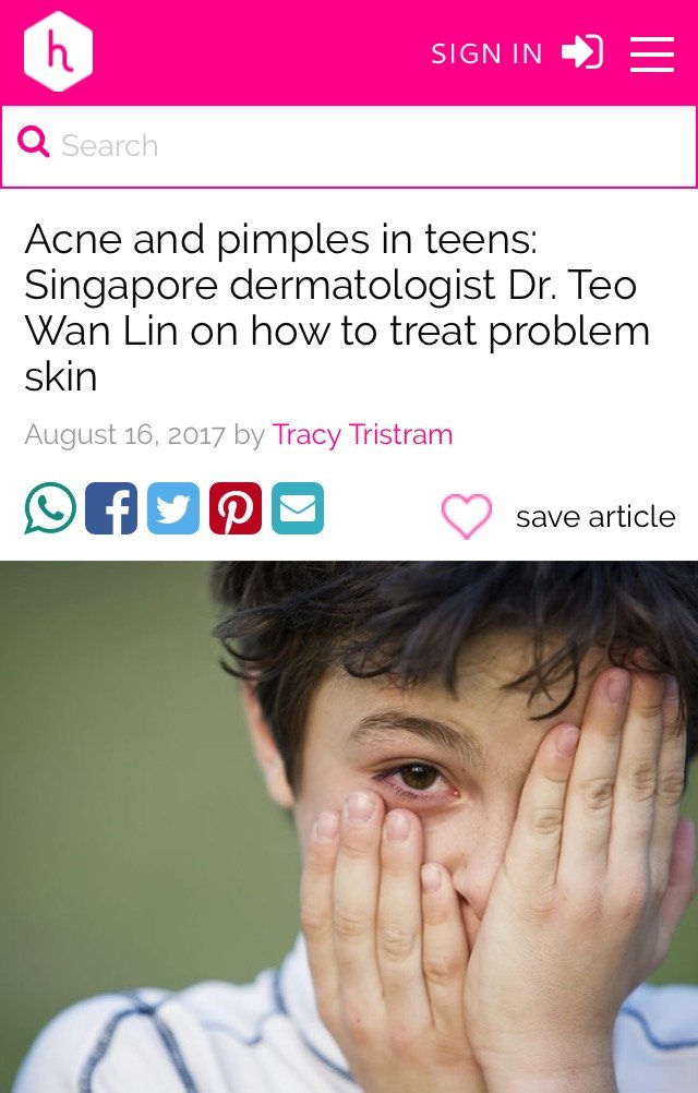 Honey Kids - Acne and pimples in Teens according to Singapore Dermatologist