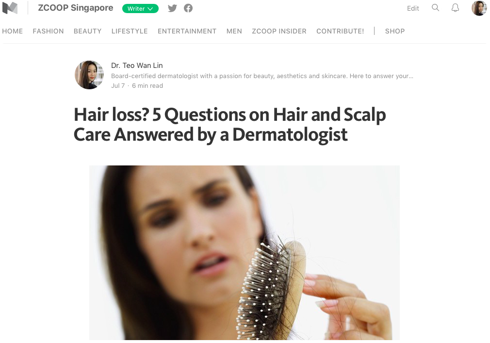 ZCOOP Singapore - Hair Loss? 5 questions on hair and scalp answered by a dermatologist