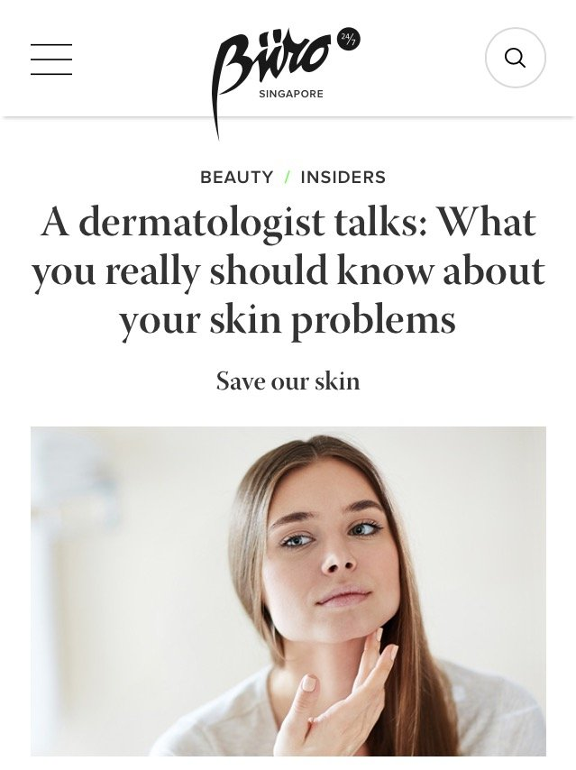 Buro 24/7 - A dermatologist talks about Skin Problems