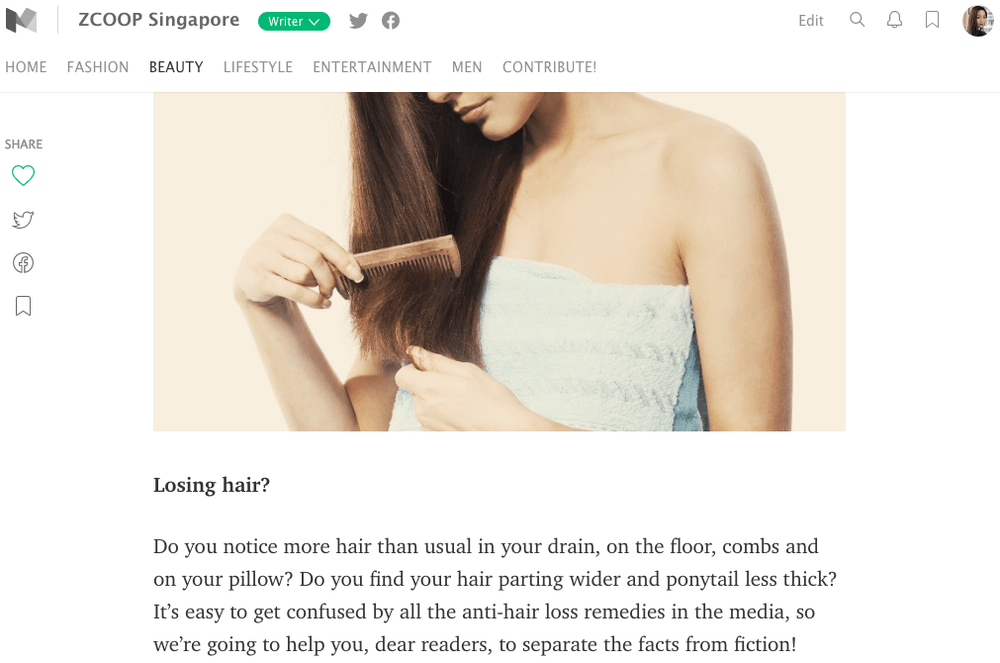 ZCOOP Singapore - 5 Myths about Hair Loss according to a Singapore Dermatologist