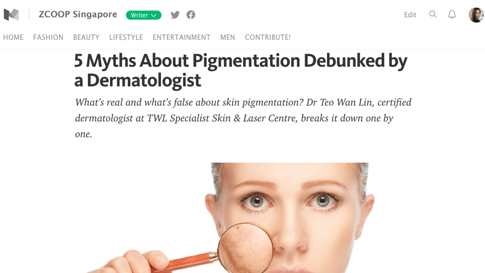 ZCOOP SINGAPORE - 5 Myths about Pigmentation Debunked by a Dermatologist