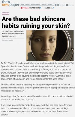 The New Paper Singapore Dermatologist - Bad Skincare Habits